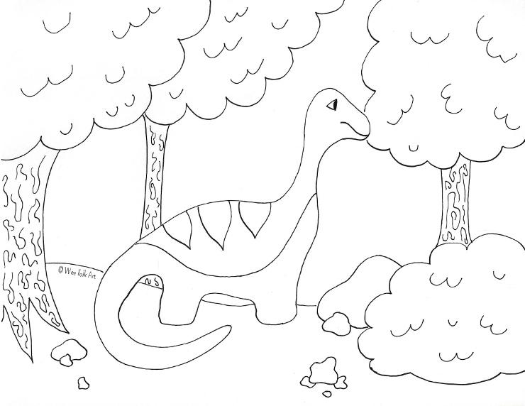 Apatosaurus Coloring Page wm