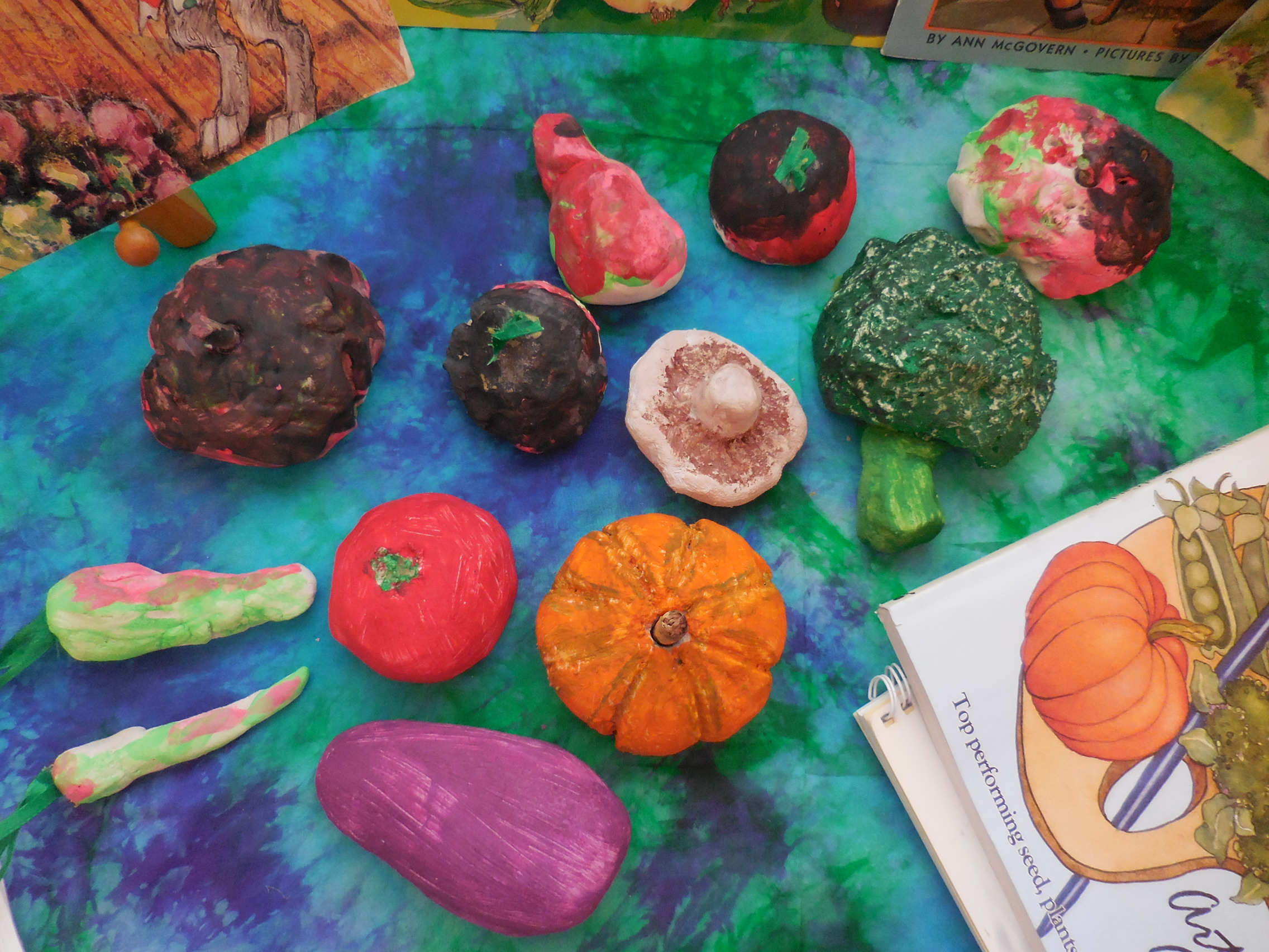 wee folk art simple seasons salt dough veggies