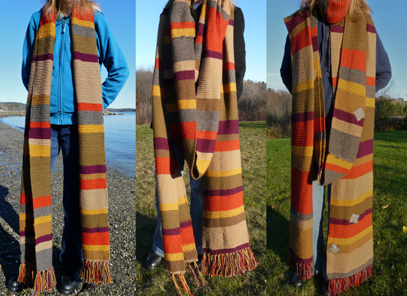 Doctor Who Scarves Wee Folk Art