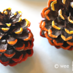 Ombre Painted Pinecones Fall Craft