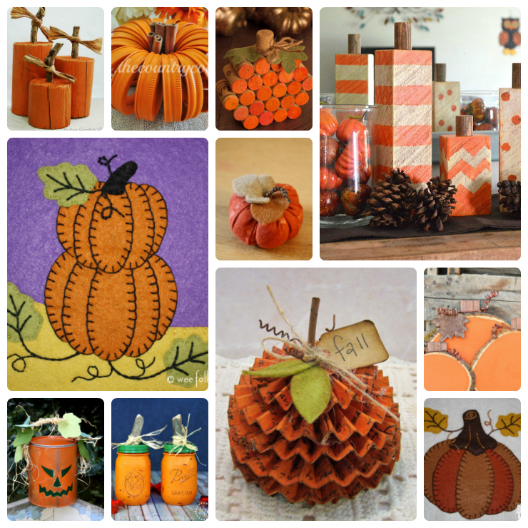 diy pumpkin crafts collage