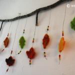 Felt Leaves Mobile Autumn Decoration