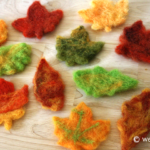 Needle Felted Leaves Wool Roving Fall Craft