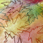 Watercolor Painted Fabric Tutorial Leaf Embroidery
