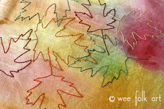Fall Leaves Embroidery Project