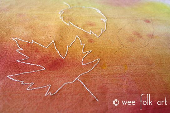 maple leaf embroider pattern