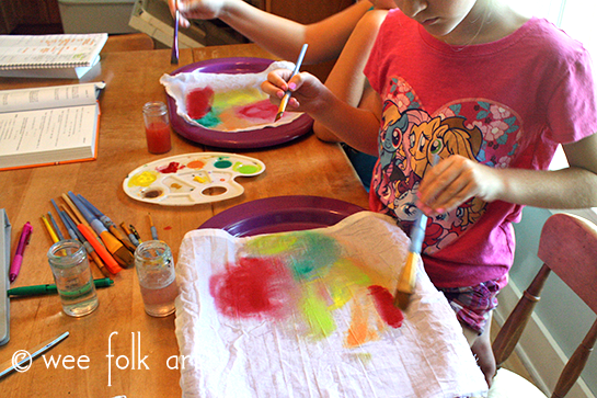 how to watercolor paint fabric tutorial