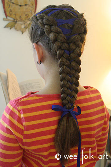 corset braid tutorial with bow