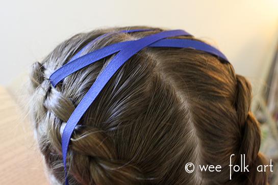 corset braid tutorial lacing ribbon