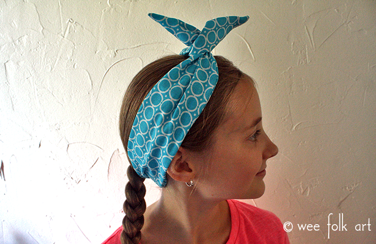 fabric wire headband tutorial