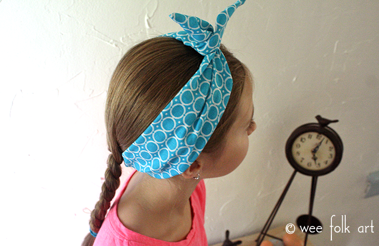 how to make fabric wire headband