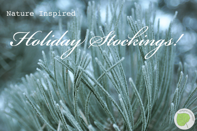 Nature Inspired Wool Felt Holiday Stockings Pattern from Imagine Childhood