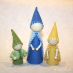 Gnomes With Arms Pattern in Three Sizes
