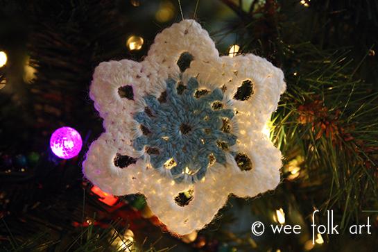 Crochet Snowflake Ornament Pattern