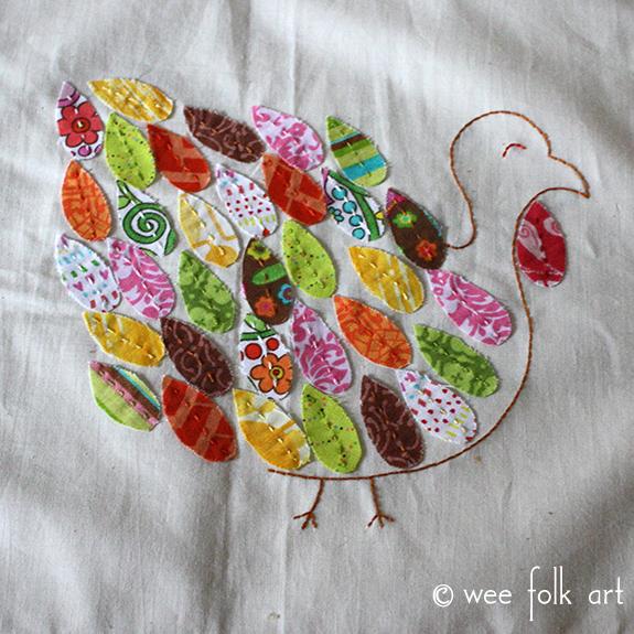 Patchwork Turkey Applique Pattern
