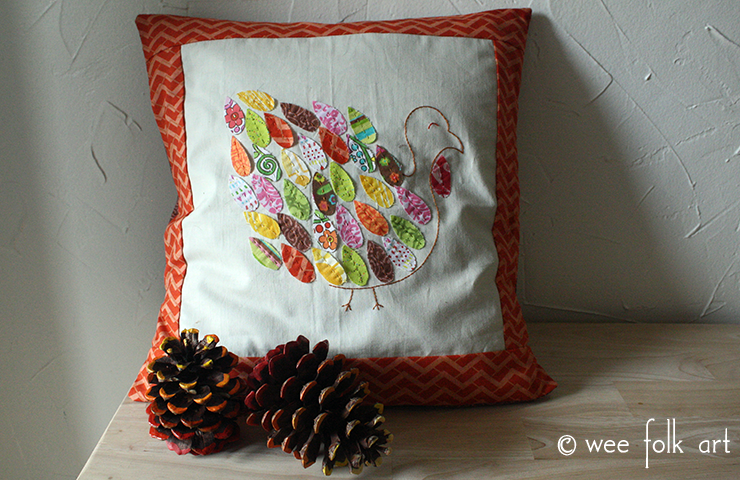 Patchwork Turkey Applique Pattern Wee Folk Art