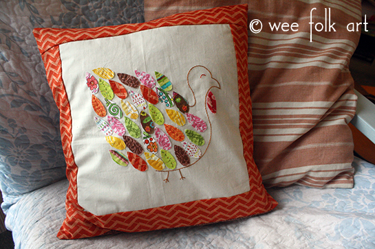 Thanksgiving Sewing Project Turkey Pillow