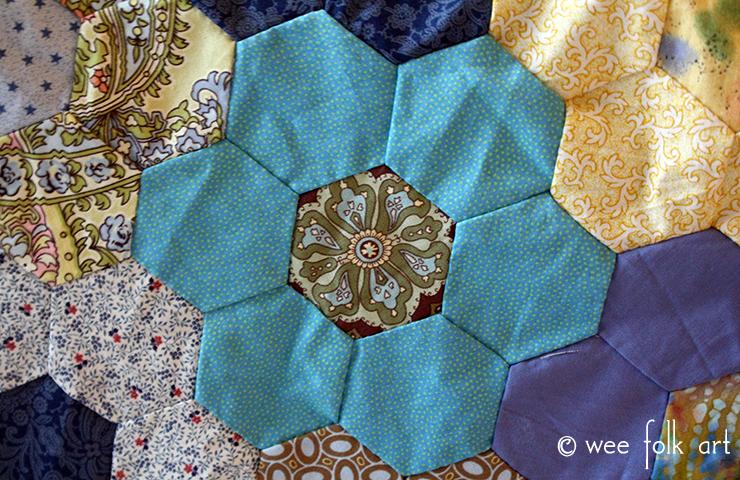 Hand Pieced Hexagon Quilt Tutorial - Wee Folk Art : quilt directions - Adamdwight.com
