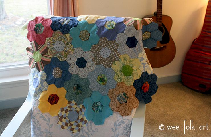 Hand Pieced Hexagon Quilt Tutorial Wee Folk Art