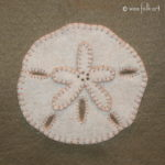 Sand Dollar Applique :: Stroll on the Beach Collection