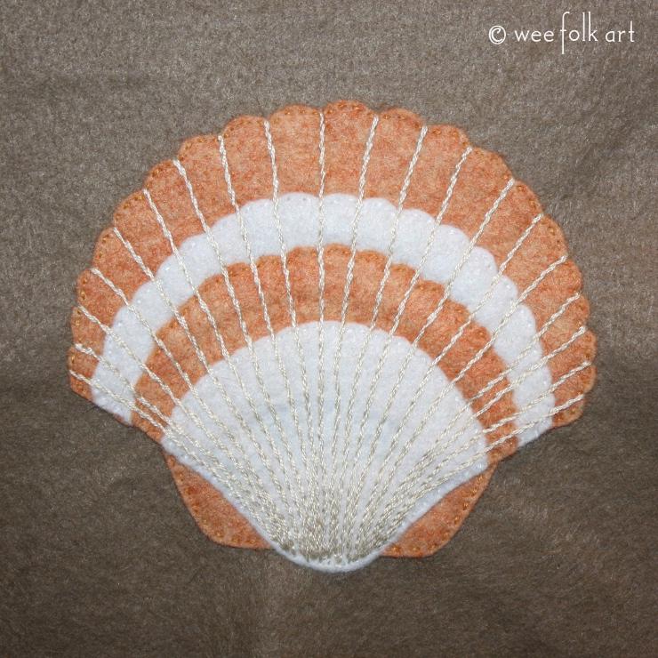 scallop shell applique