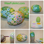Dot Painting on Wooden Eggs Tutorial