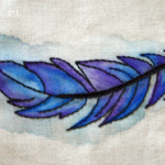 Watercolor Feather Embroidery Pattern