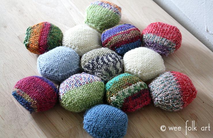 Knitting Hexipuffs Quilt Blanket