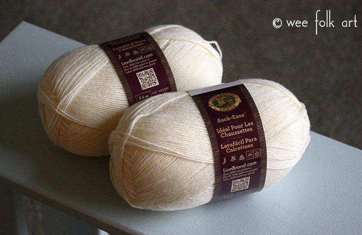 Mini Yarn Skeins Natural Color Wool Yarn