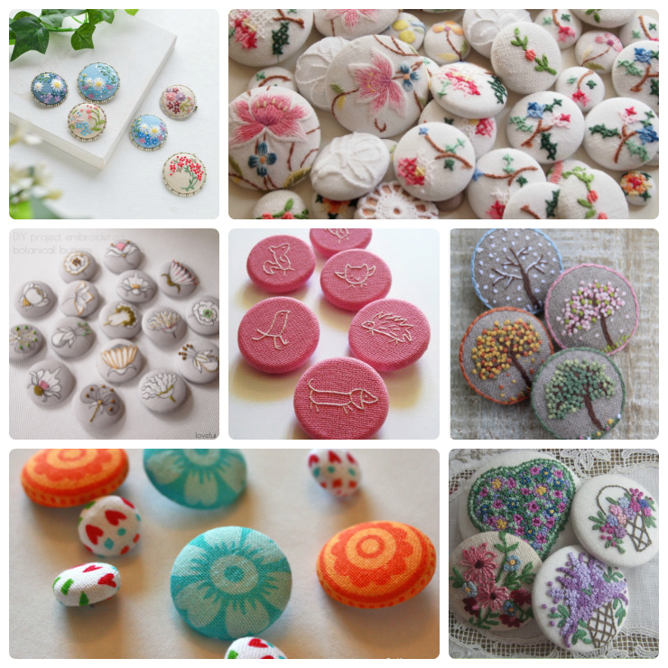 7 Lovely Embroidered Buttons to Inspire