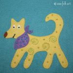 Folk Art Dog Applique :: Folk Art Pets Co
