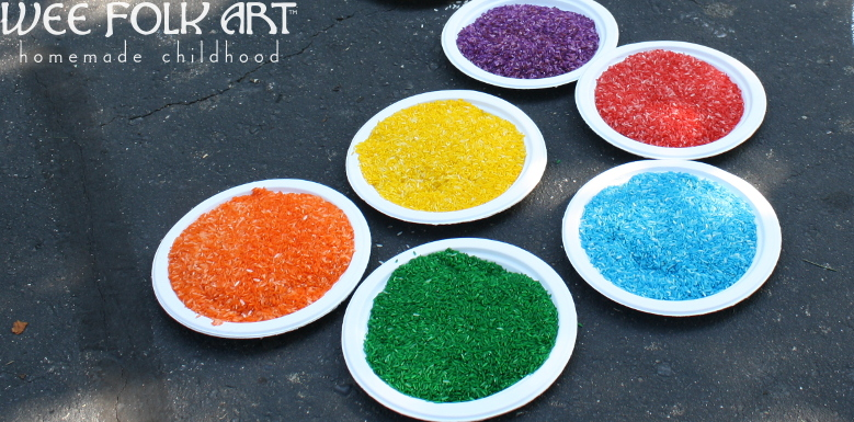 How To Color Rice With Food Coloring Wee Folk Art
