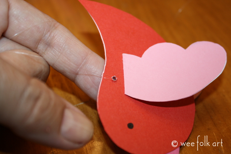 paper bird mobile tutorial