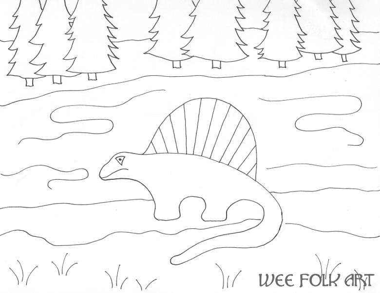 Dimetrodon Coloring Page