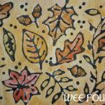 Autumn Leaves Craft – Black Glue Relief