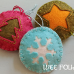 Cut Away Window Felt Ornaments Tutorial