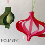 Paper Strip Inspired Felt Ornaments