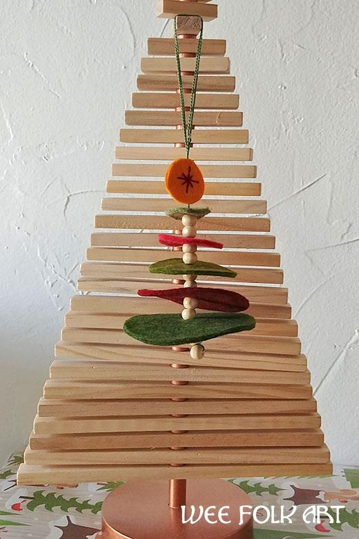 stacked circles Wool Felt Christmas Tree Ornament pattern