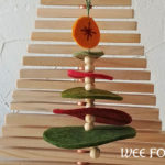 Stacked Wool Felt Christmas Tree Ornament