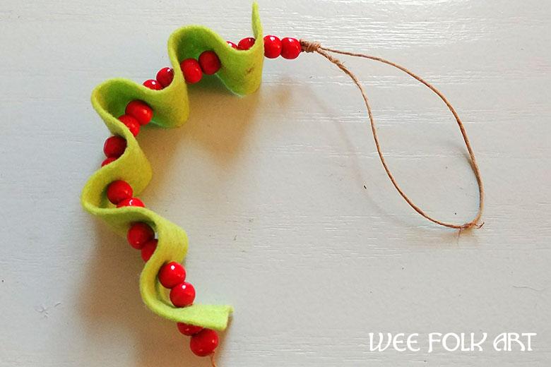 ribbon candy felt ornament directions