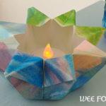 Watercolor Folded Paper Star Lantern