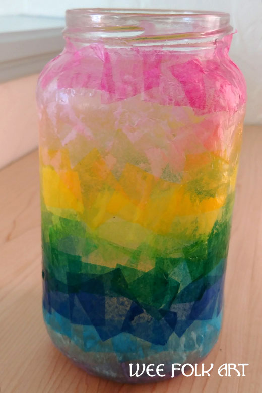Ombre Rainbow Tissue Paper Lantern Directions