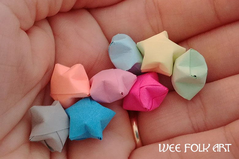 Origami Paper Star Tutorial how to fold paper strip stars