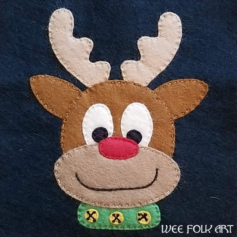 Reindeer Applique Pattern