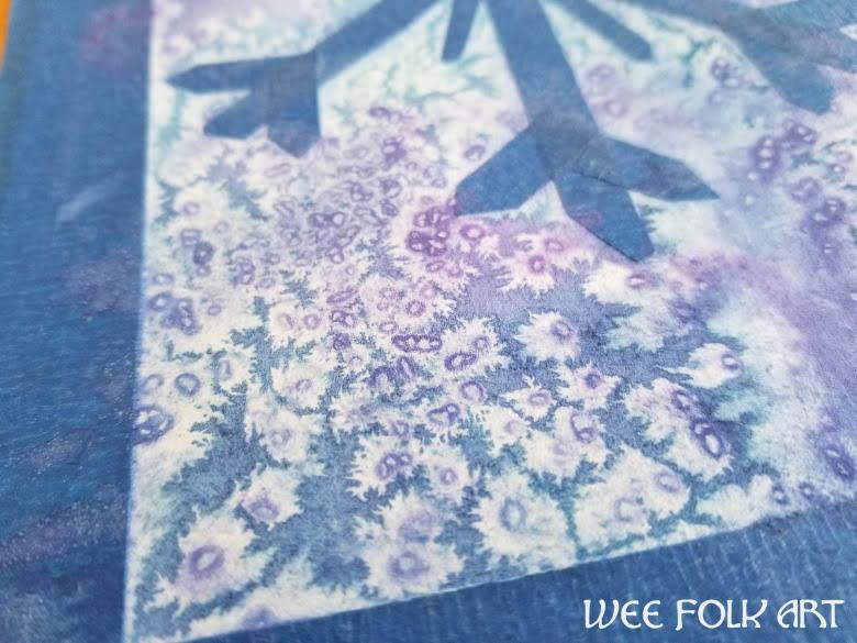 watercolor snowflake craft
