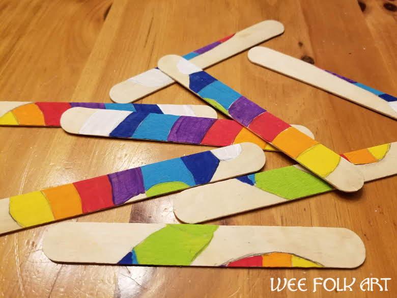 Craft Sticks Winter Puzzle Craft