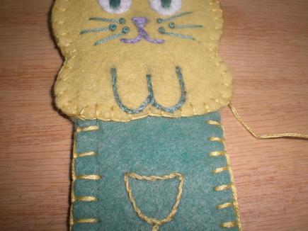 Kitty Cat Book Mark pattern