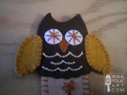 Owl Book Mark Pattern