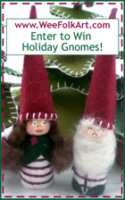 Wee Folk Art Holiday Gnome Contest Button