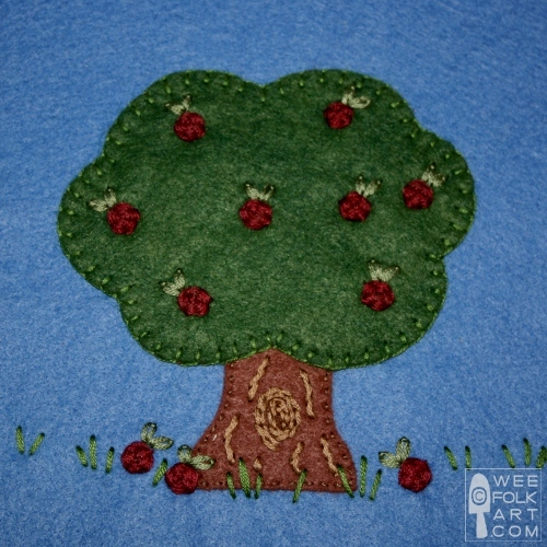 Apple Tree Applique Block